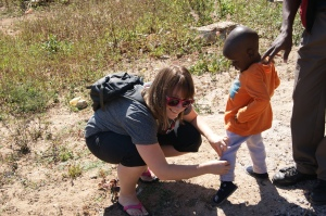 Doing what we can to help, even if that means repeatedly removing twigs from little shoes ;)