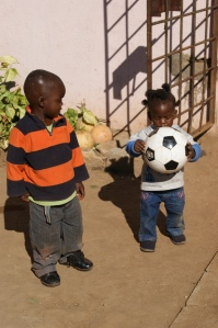 Never too young to start soccer.
